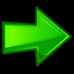 freccia verde destra